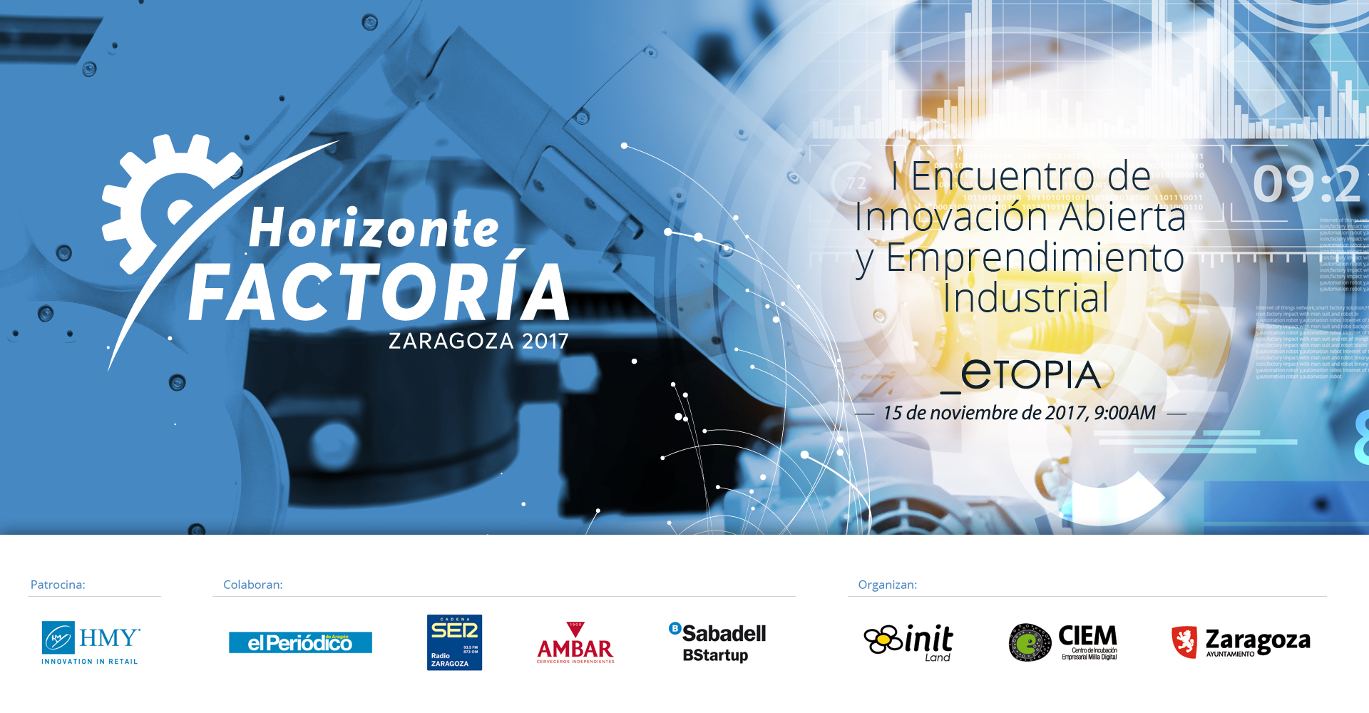 Horizonte Factoría I Encuentro de Innovación Abierta y Emprendimiento Industrial