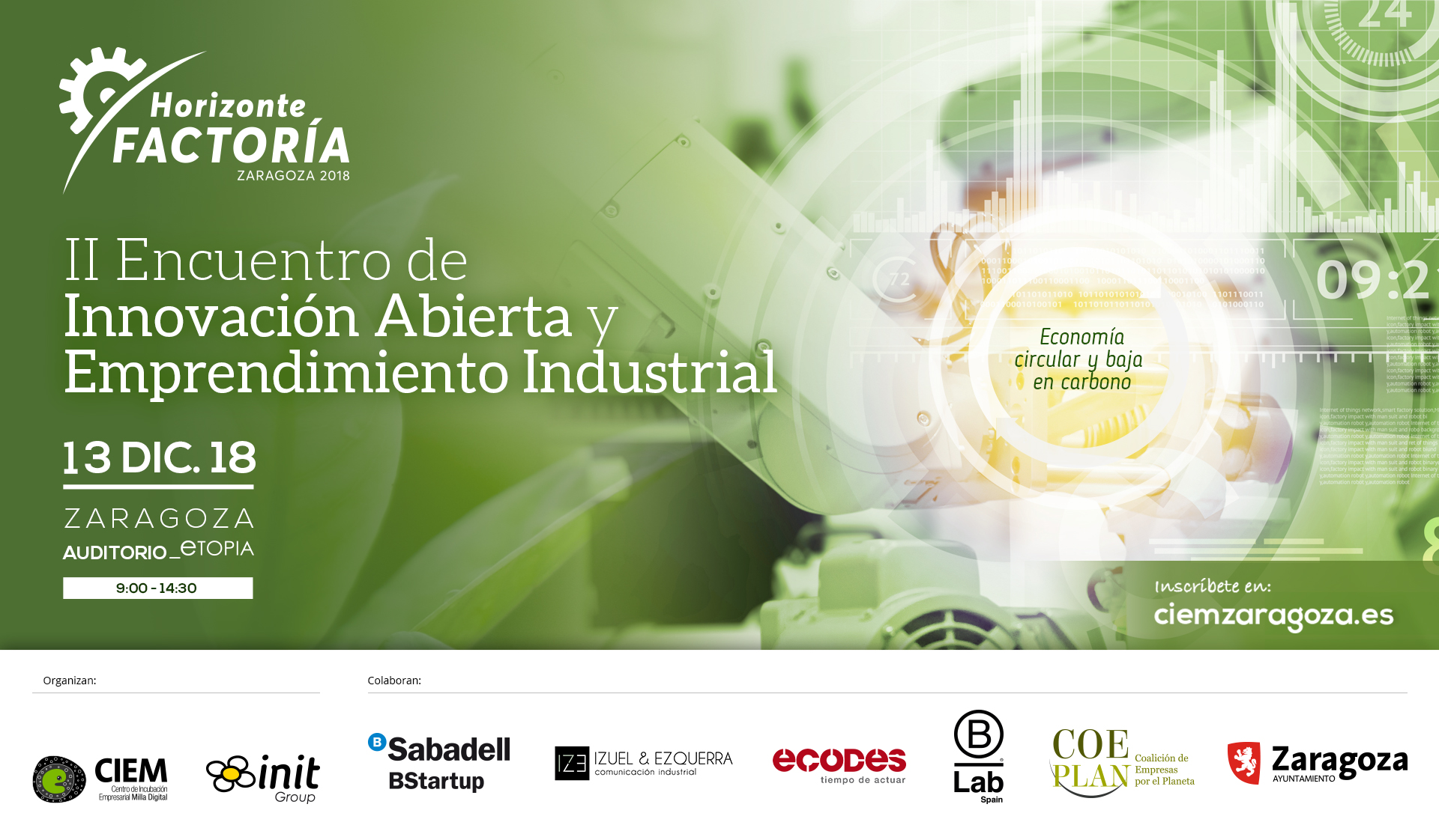 Horizonte Factoría, II Encuentro De Innovación Abierta Y Emprendimiento Industrial